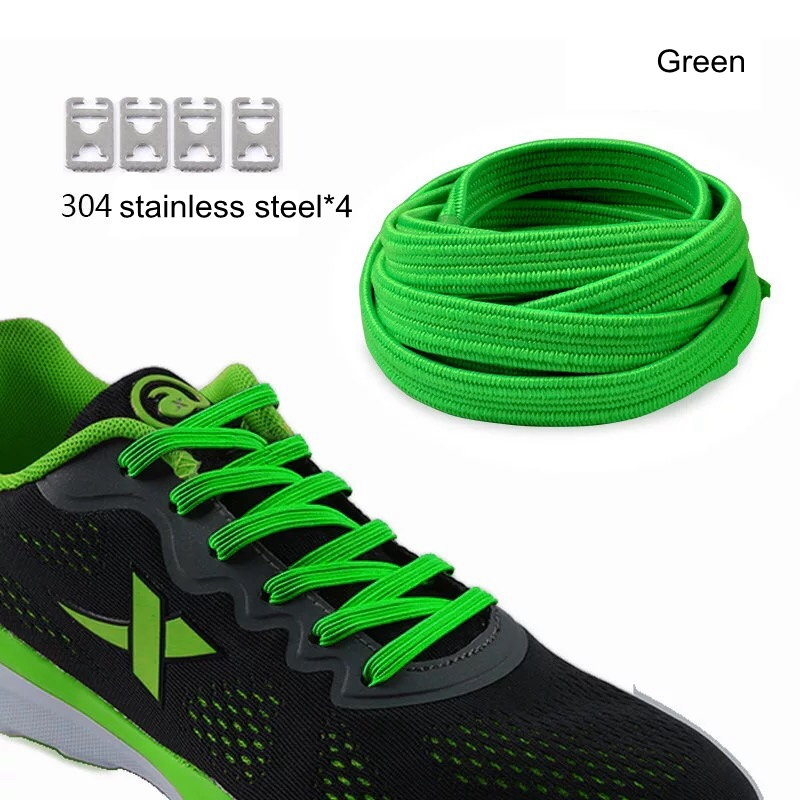 1pair 100CM Elastic Rubber Shoe Lace No Tie Lazy ShoeLaces Sneaker Children Safe Shoelace