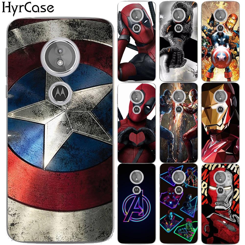 Spider Iron Man Super Heros Soft TPU Case For Motorola Moto E5 E (5th Gen.) Avengers Silicon Back Cover For Coque Moto G6 Play