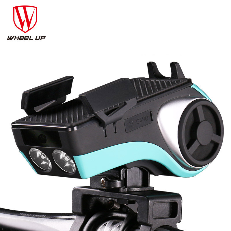 Wheel up MultiFunction Bike Phone Stand Holder With Bicycle Horn Power Bank Bluetooth Subwoofer Cycling Headlight Accessories wheel up bike head light cycling bicycle led light waterproof bell head wheel multifunction mtb lights lamp headlight m3014