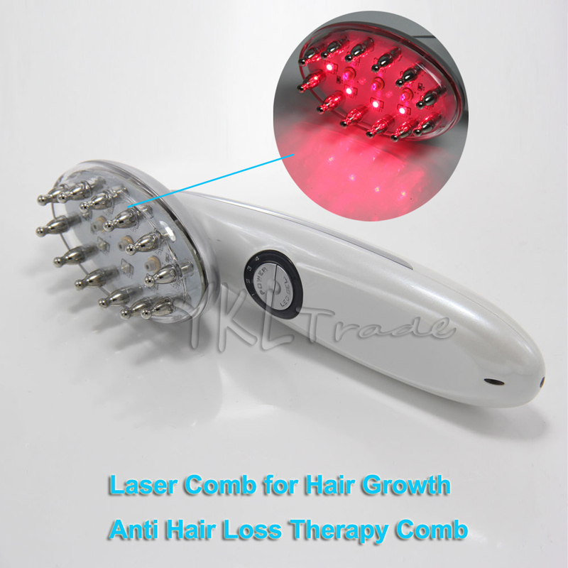 Electric 3 in 1 LED Microcurrent Laser Comb Hair Loss Therapy Hair Growth Care Power Grow Brush Scalp Massage Tool Health Care laser hair growth comb 6 color led light micro current for hair massage remove scurf n repair hair hair loss