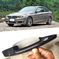 BMW 3 Serisi GT için 3GT F34 335i 320i 328i 325d 340i 330i 13'-19 Aksesuarları 100% Gerçek Karbon fiber Oto Dış Kapı kulp kılıfı