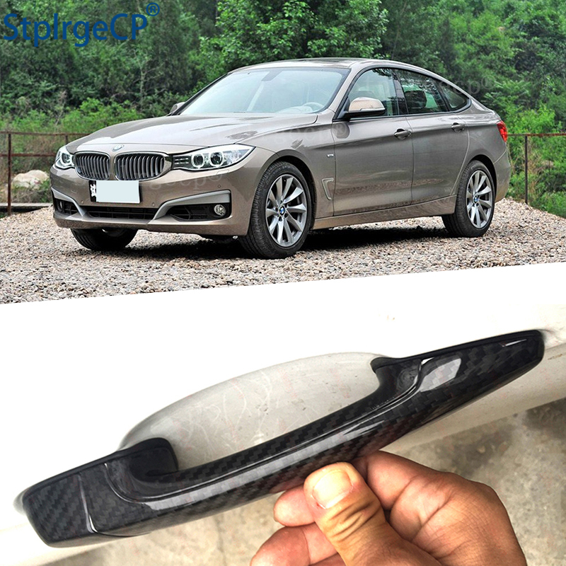 Pour BMW série 3GT 3GT F34 335i 320i 328i 325d 340i 330i 13'-19 accessoires 100% couverture de poignée de porte extérieure en Fiber de carbone véritable