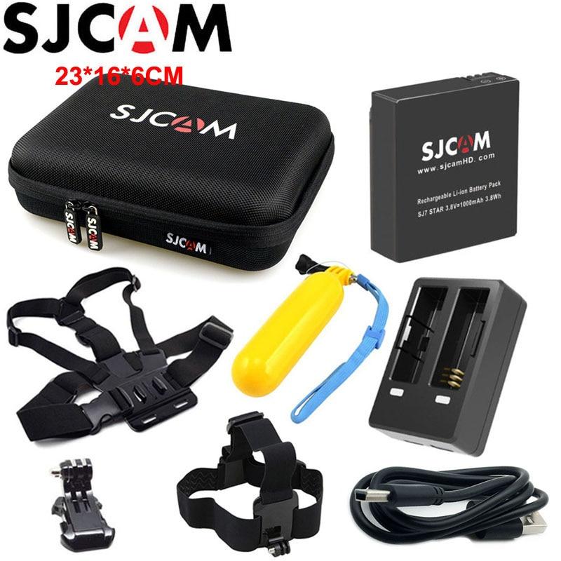 Original SJCAM Battery for SJCAM M20 Dual Charger for SJ6 Legend Large Storage Bag for SJ7