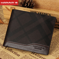 2016 New Harrms Brand Split leather men magic wallet, short design purse wholesale fashion leather men wallets , Free shipping