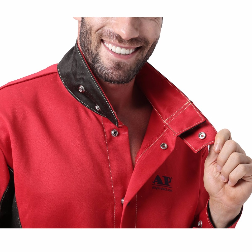 Cotton Cloths Heat Resistant Jacket Retardant Jacket Worker Abrasion Protect Flame For Working Flame Working Welding