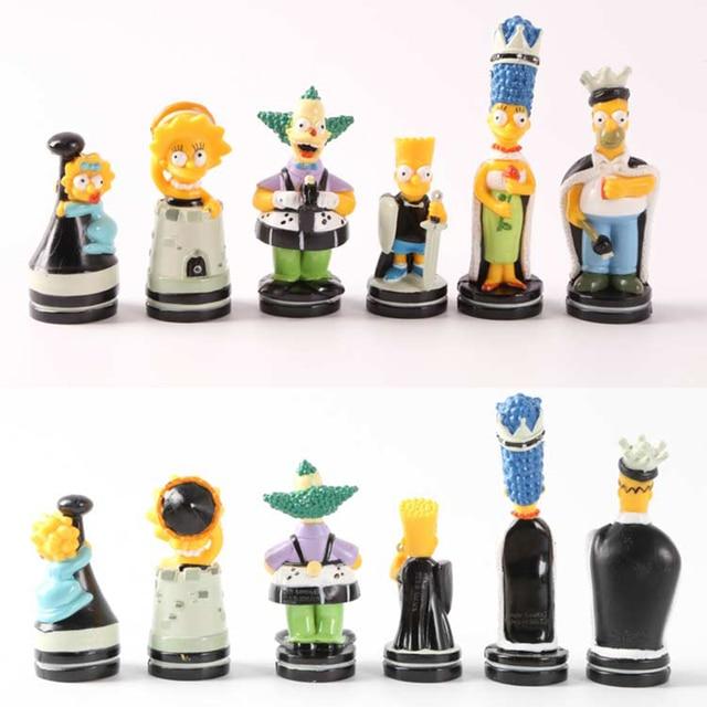 Schachspiel Simpson Homer Bart puppe Schach Die Spielerische Farbe ...