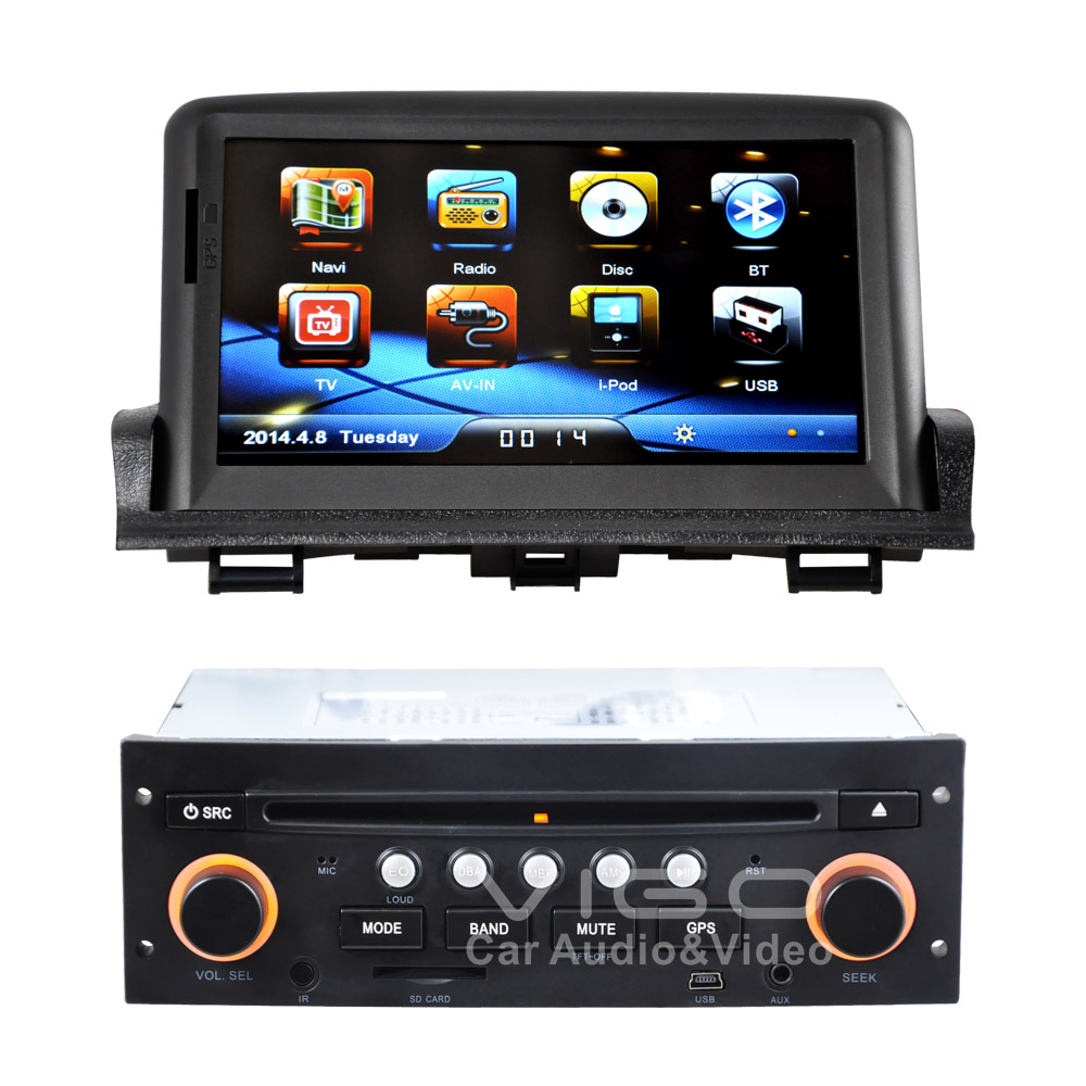 car stereo gps navigation for peugeot 307 bluetooth. Black Bedroom Furniture Sets. Home Design Ideas