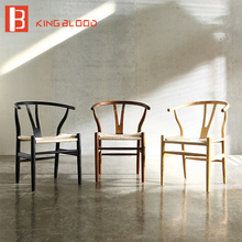Одноместный деревянный стул для столовой мебели с подлокотником кресло из цельного дерева