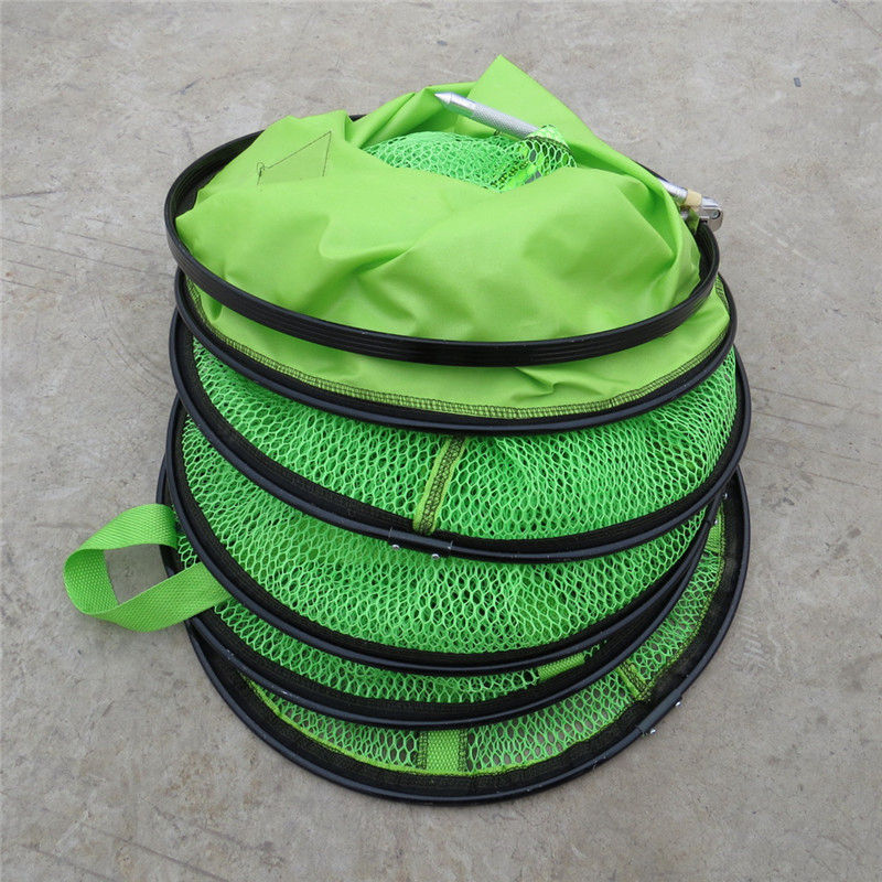 Diameter35cm*2m Collapsible Fishing Net Cage Fish Tackle Care Creel 5-6 Layers Large Size Fish Net packing net k8356 wholesale folding care network tackle fishing net crab fish trap 2m 2 5m 3m