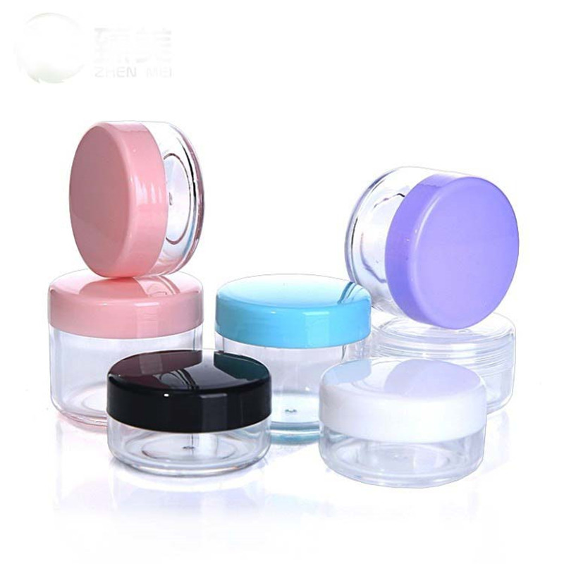 1 Pcs Acrylic Cosmetics Jar Box Portable Makeup Cream Nail Art Cosmetic Bead Storage Pot Container Clear Refillable Bottles