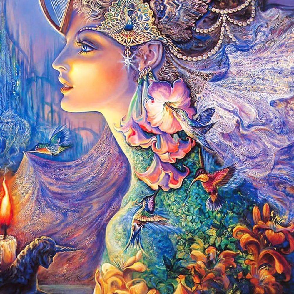 Prinzessin fantasy fee neue ankunft DIY Kristall voller bohrer platz 5D diamant malerei 3d kreuz stich kit mosaik runde strass