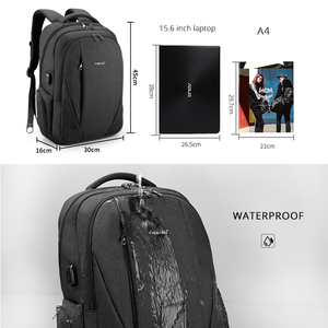 Image 5 - Tigernu USB Waterproof Anti Theft Backpacks for Men 15.6 inch Laptop Male Backpack for Travel School Bags for Teenager Mochila