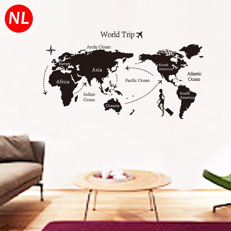 marca world trip mapa diy grandes pegatinas de pared ventana extrable mapa mundi de la sala