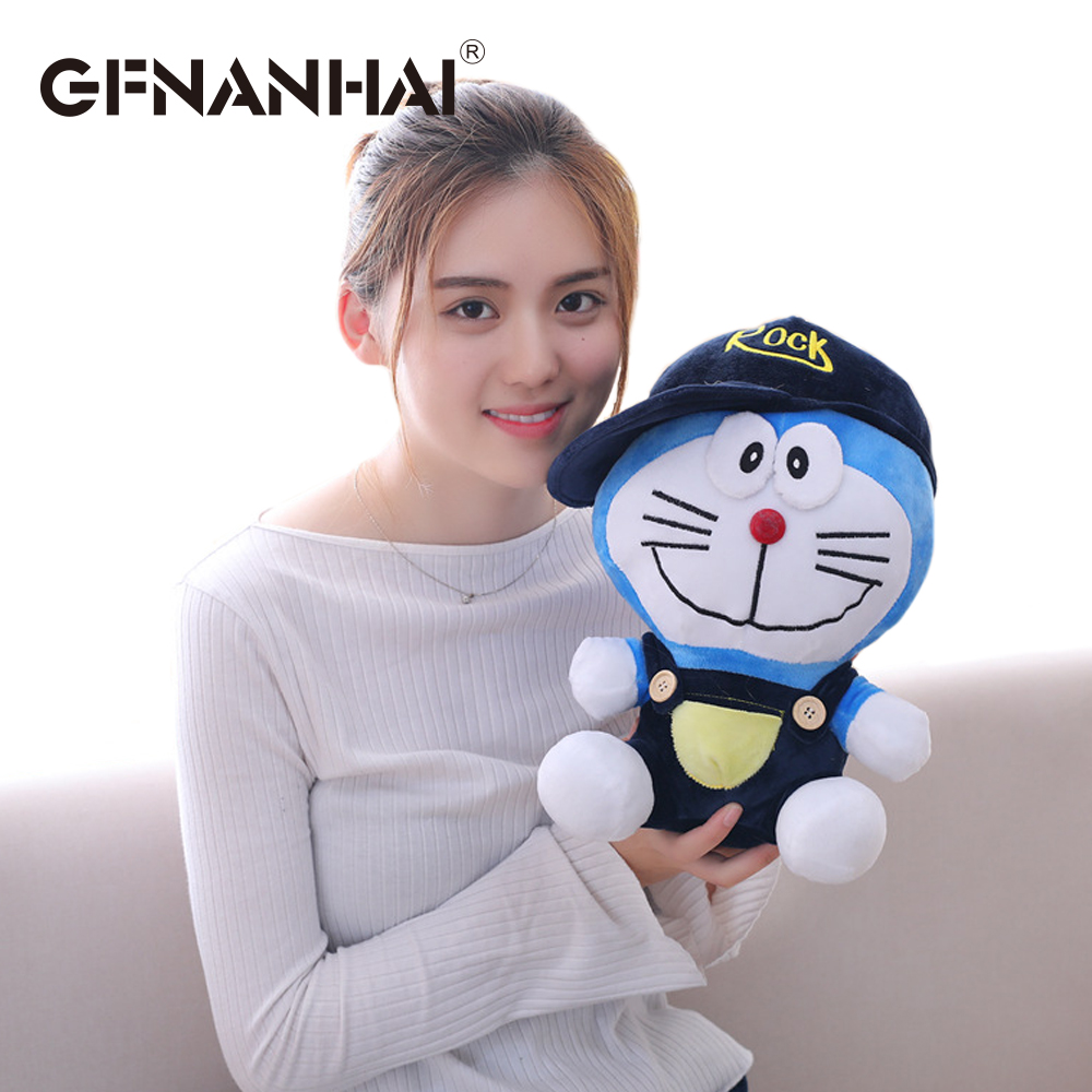 1pc 30cm cartoon Stand By Me Doraemon plush toy stuffed soft Cute baby finger toy doll Cat Kids birthday gift for children