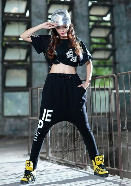 2015 New Kpop Women Drop Crotch Pants Swag Joggers Hip Hop Dance Sweatpants  Baggy Trousers Outdoor Dancing Girl Running Leggings