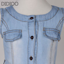 Teenage Girls Dresses Summer Style Sleeveless Denim Dress for Girls Clothing Teens Sundress kids clothes 2 4 6 8 10 12 14 15 Y