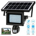 Energía Solar Impermeable Al Aire Libre Cámara de Seguridad IP Con Visión Nocturna de Vigilancia de Seguridad CCTV Cámara de Vídeo Grabadora de Tarjeta de TF
