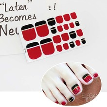 купить Toe Nail Stickers Waterproof Fashion Toe Nail Wraps Nail Art Full Cover Adhesive Foil Stickers Manicure Decals D12 дешево