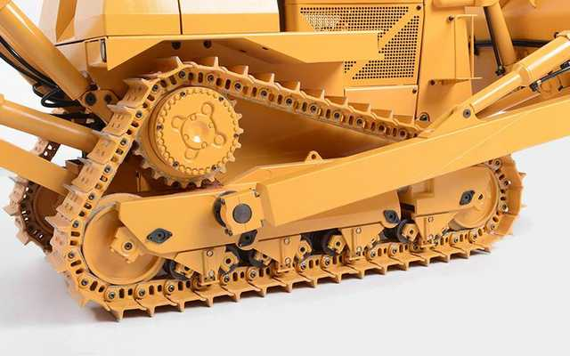 US $19 99 |2pcs 1/12 SCALE hydraulic crawler dozer model board, walking  track simulation tracks excavator hydraulic For Tamiya RC8WD-in Parts &