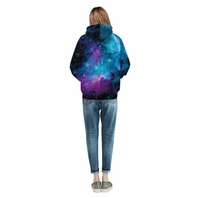 Space Galaxy Starry Sky Print 3D Hoodie 1