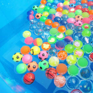 Image 5 - 5pcs 10pcs Different Mixed Bouncy Ball Solid Floating Bouncing Kids Elastic Rubber Ball Pinball Football Funny Toys For Children