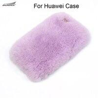 Für Huawei honor 8 9 V 8 V9 8 Lite Luxus Top Kaninchenfell Winter warme Plüsch Pelzigen Weichen Für honor 5X 6X Hinweis 8 Genießen 6 6 S 7