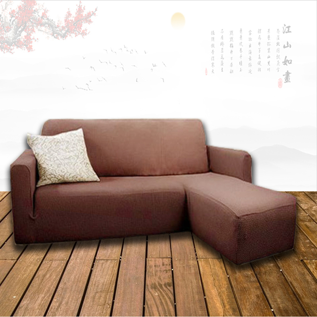 Customize Only Modern All Inclusive Elastic Sofa Cover Royal L Shaped  Stretch Slipcover Cover