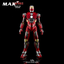 1/9 MARK XIX DFS049 Iron Man 3 MK19 Alloy Diecast Figure Series Action Figure Collection Action Figure for Fans Holiday Gift 1 9 diecast figure series dfs023 iron man mark1 collectible dolls figures collections