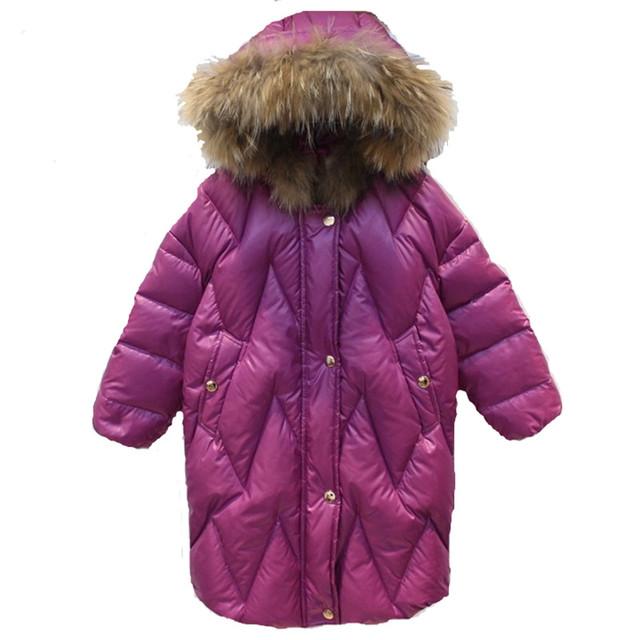 2016 Crianças Novas de Inverno Meninas Quente Para Baixo Crianças Casaco Longo Outerwear & Casaco de algodão para meninas