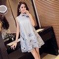 Loose Embroidery Dress White Cheongsam Dress Women Modern Chinese Dress Beautiful Qipao Abendkleider Robe Chinoise Vestido
