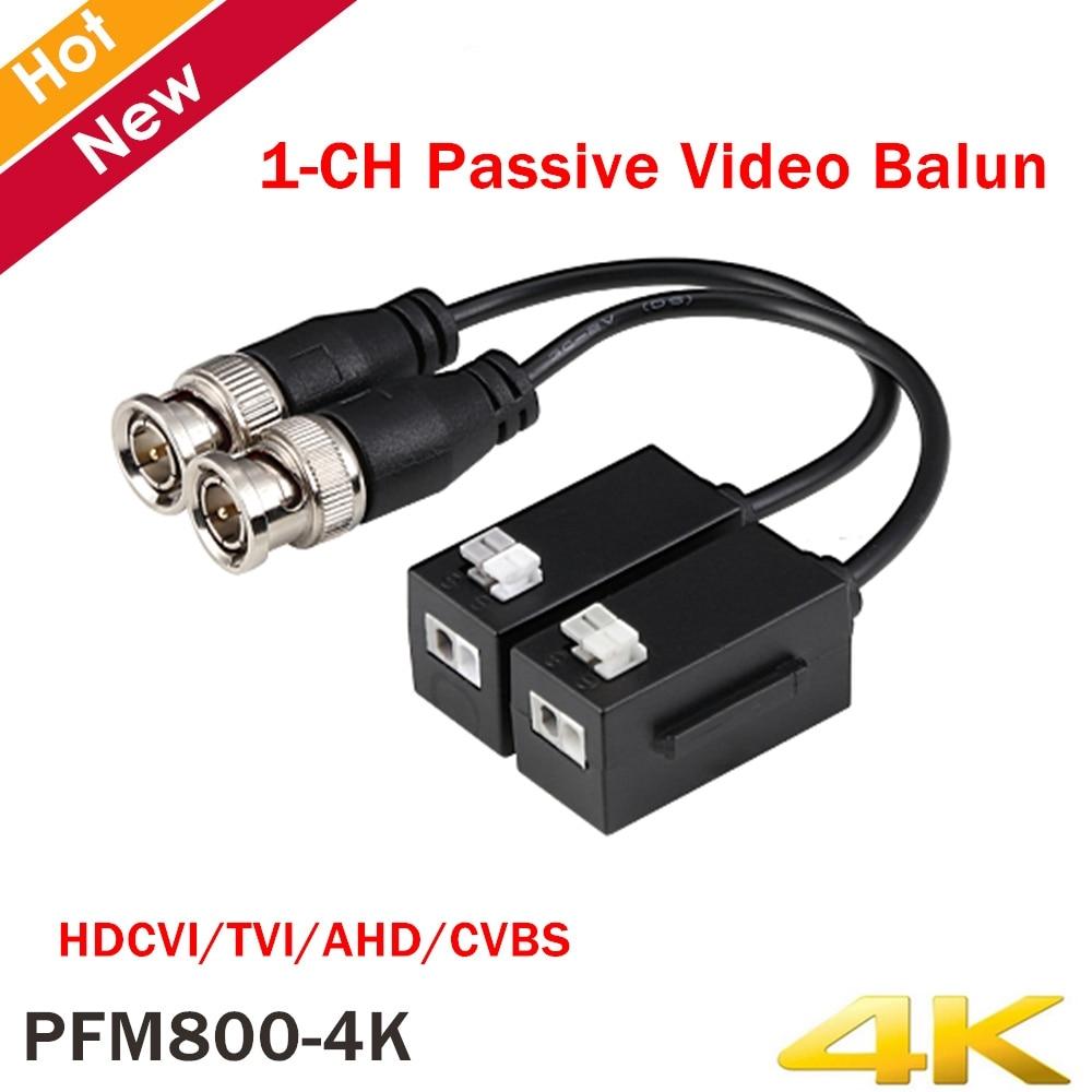 Original Dahua PFM800-4K 1CH Passive Video Balun HDCVI Accessory Compatible Format HDCVI/TVI/AHD/CVBS