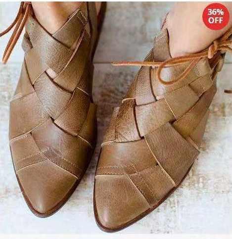 Çapraz bağlı Damalı Kare Topuk Düşük Kadın Pompaları Düz Moda tek ayakkabı Roma Sığ Kayma-On Bahar Autumm Bayanlar pompalar