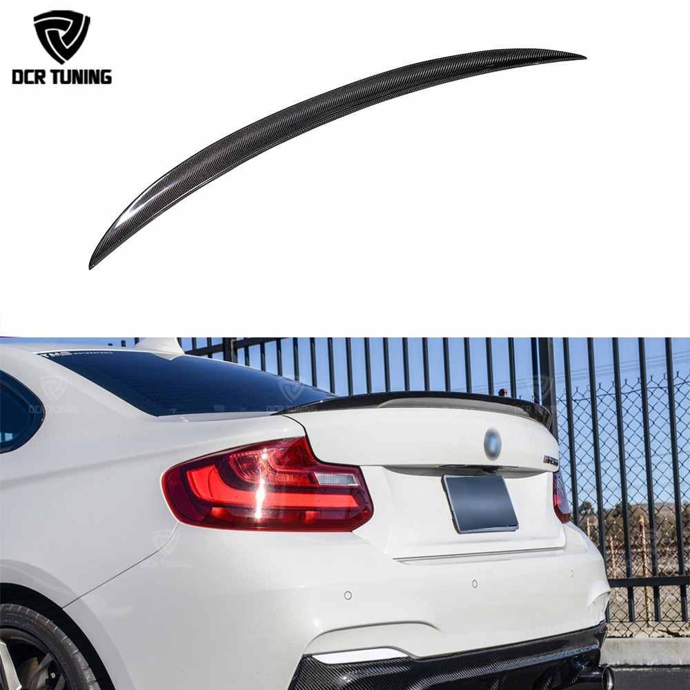 Для BMW F22 спойлер Производительность углеродного волокна спойлер 2 серии F22 купе и F23 Кабриолет и F87 M2 220i M235i 228i-на 2014