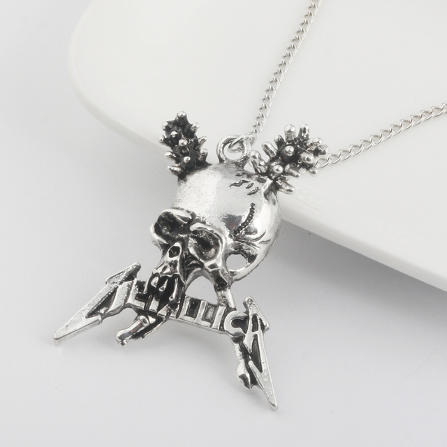 Metallica Skull Pendant / Necklace 3