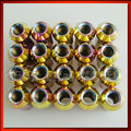 Original Logo 20PCS Neo Chrome 48mm Steel Racing Wheel lug Nuts For Toyota Honda Ford Mazda P1.5 1.5 With Wrench Adapter