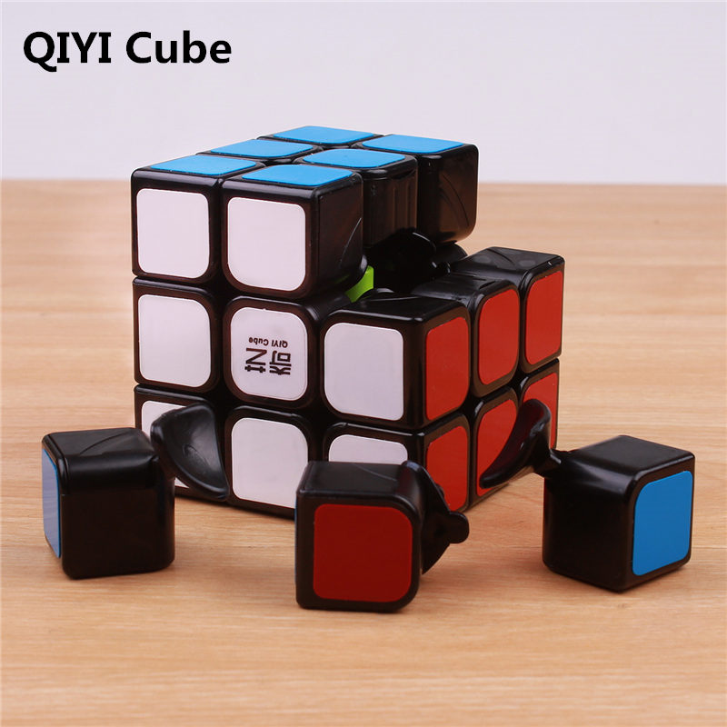 QIYI 3x3x3 Magic Cubes Stickers Sail Puzzle Cube Professional 3 On 3 Speed Cubo Magico Educational Montessori Toys For Children
