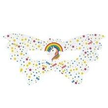 6pcs hot new rainbow unicorn party Eye mask birthday decorations Wedding valentines day decor supplies Tableware