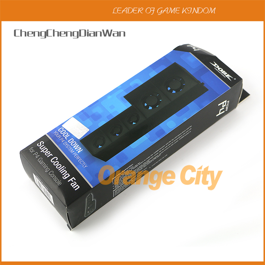 ChengChengDianWan For <font><b>PS4</b></font> Cooling Fan External Cooler Fan for Playstation 4 <font><b>PS4</b></font> <font><b>Turbo</b></font> Temperature <font><b>Control</b></font> Five Fans USB Cable image