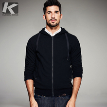 2017 Spring Mens Fashion Hoodies Thick Stripe Patchwork Black Zipper Brand Clothing Man's Slim Clothes Coats Jackets Tracksuits