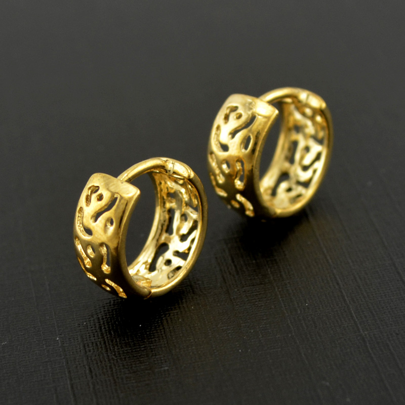 New 18k Gold Plated Silver Basket Channel Earrings Fashion Femme Hoop African Jewelry For Wedding Women In From