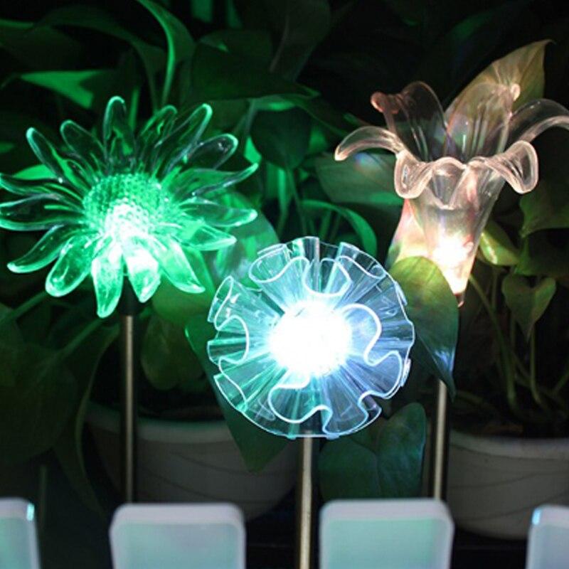 Cor mudando led jardim luz solar ao
