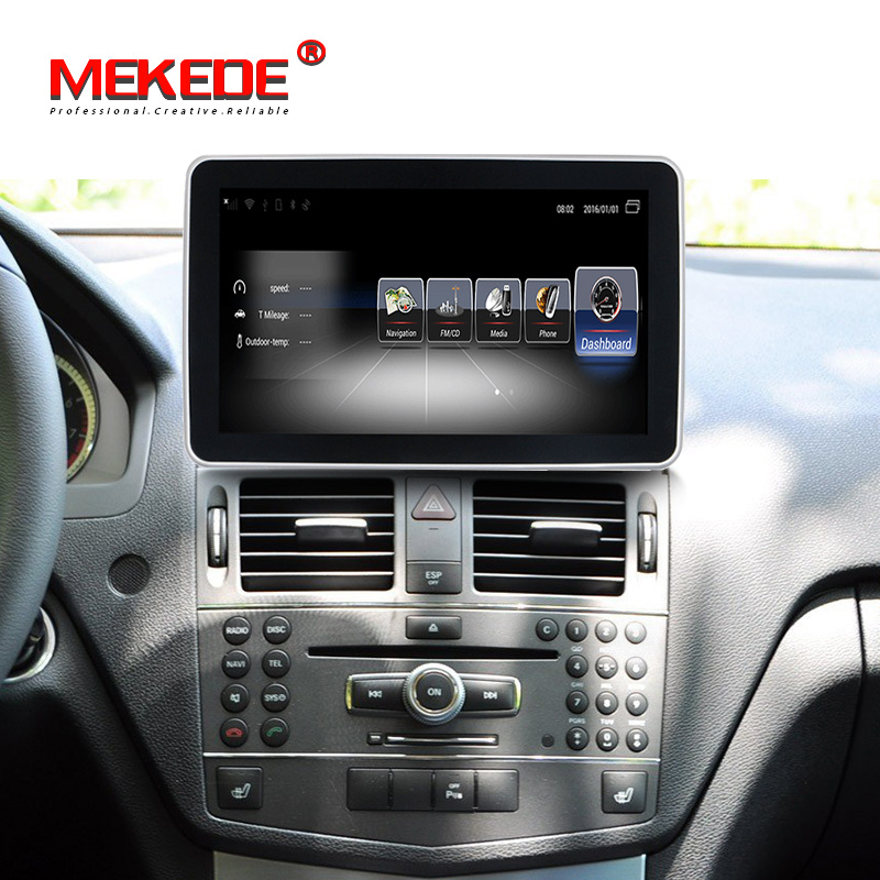 4G LTE 2DIN Car Android 10.25 Inch Display For Mercedes Benz C Class W204 2008-2010 Command System Upgrade Head Up Screen