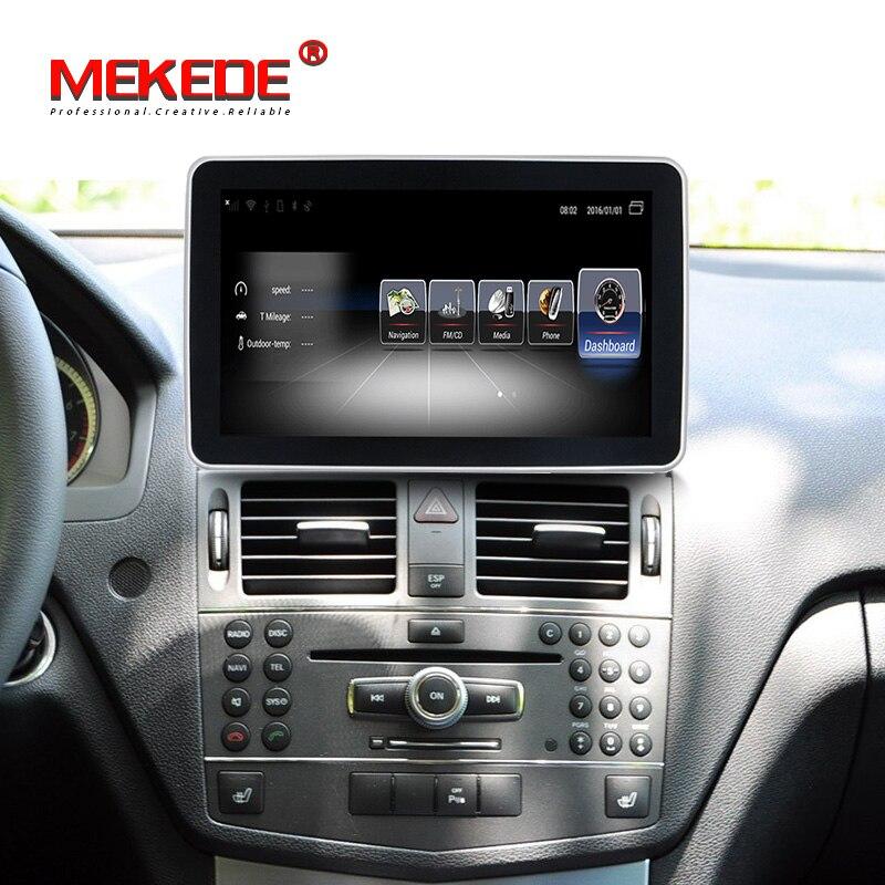 2DIN 4G LTE Android Carro 10.25 polegada W204 Exibição para Mercedes Benz C Class 2008-2010 Sistema de Comando cabeça Acima Da Tela de atualização