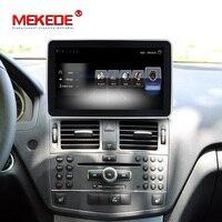 4G LTE 2DIN รถ Android 10.25 นิ้วสำหรับ Mercedes Benz C Class W204 2008-2010 Command System อัพเกรด Head Up หน้าจอ