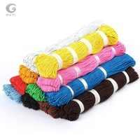 Красочные эластичный шнур 1 мм Эластичная лента для Костюмы 150 м/лот Бисер шнур эластичный Stretch