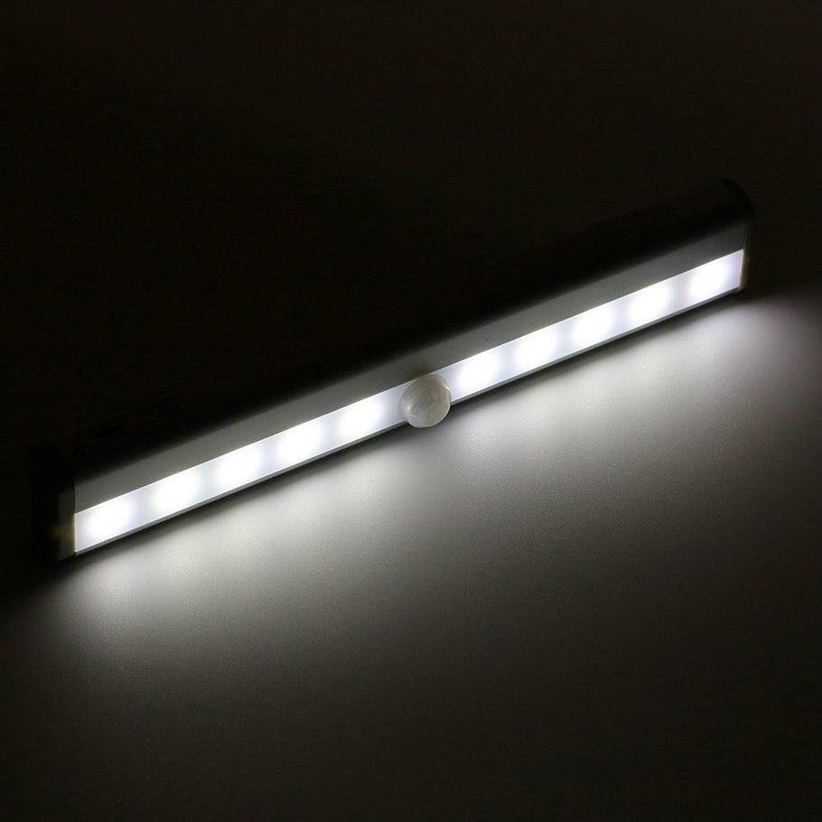 ⊹10 светодиодов Беспроводной Пир Auto Motion Сенсор свет ...