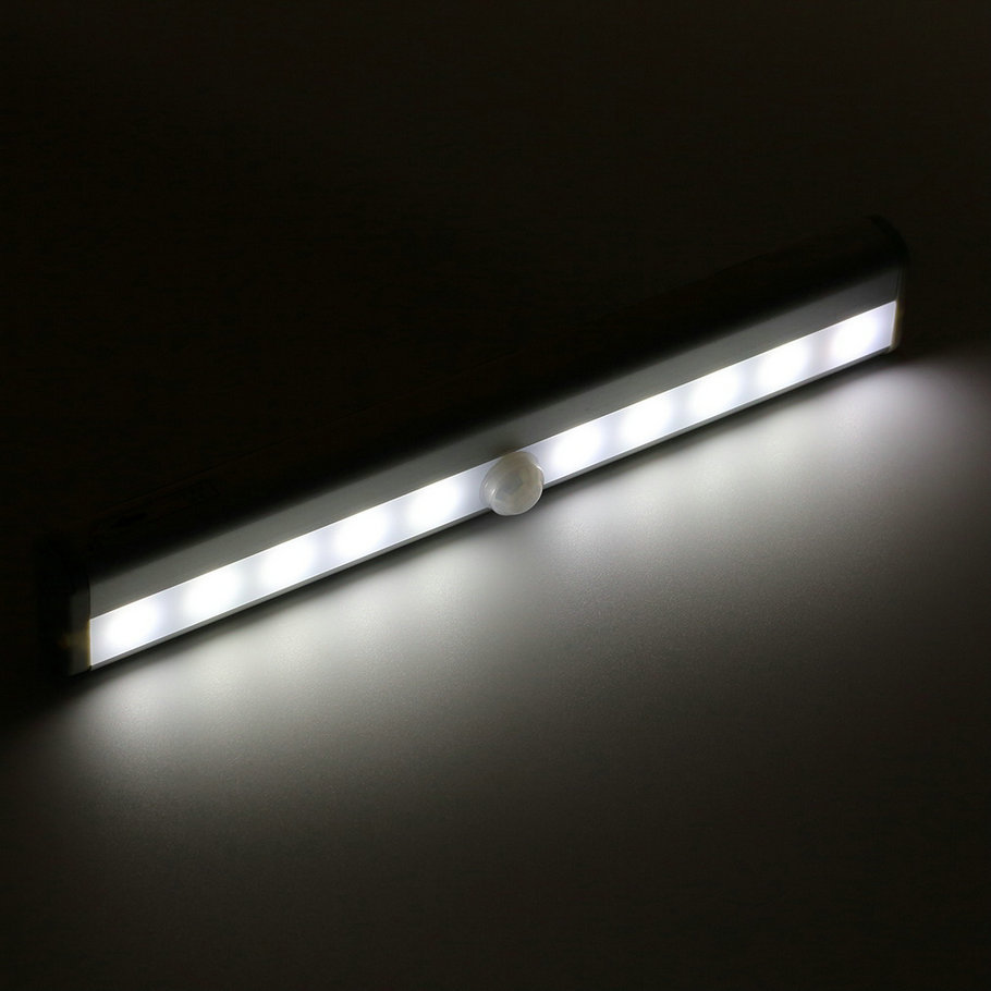 Delightful 10 LED Wireless PIR Auto Motion Sensor Light Intelligent  Portable Infrared Induction Lamp Night Lights