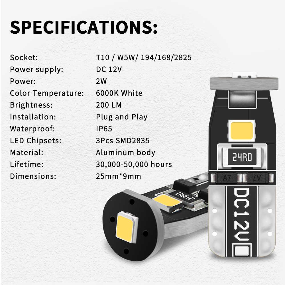 2 adet T10 LED W5W Led ampuller araba İç işık lambası için Ford Fiesta mondeo mk4 ford focus 2 odak mk1ford s-max Kuga Mustang