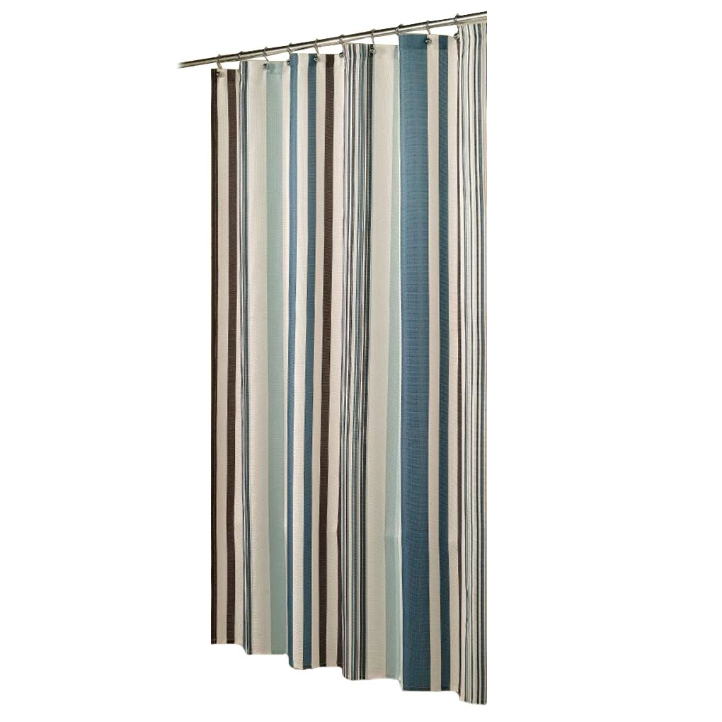 3 Size Mixed color Verticle Stripe Polyester Fabric Shower Curtain Waterproof Partition Curtain