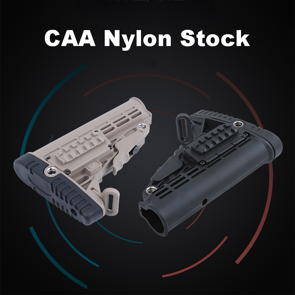 High Quality CAA Nylon Stock For Air Guns Airsoft Gel Blaster AEG Gen8 Jinming9 Hunting Accessories - With A Strap Buckle